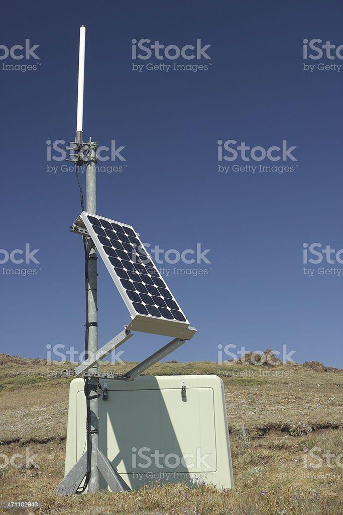 Solar Energy Mirror Antenna Earthquake Monitor stock photo