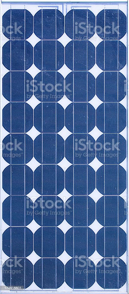 Solar Energy Panel - Array of 36 Silicon Disks stock photo