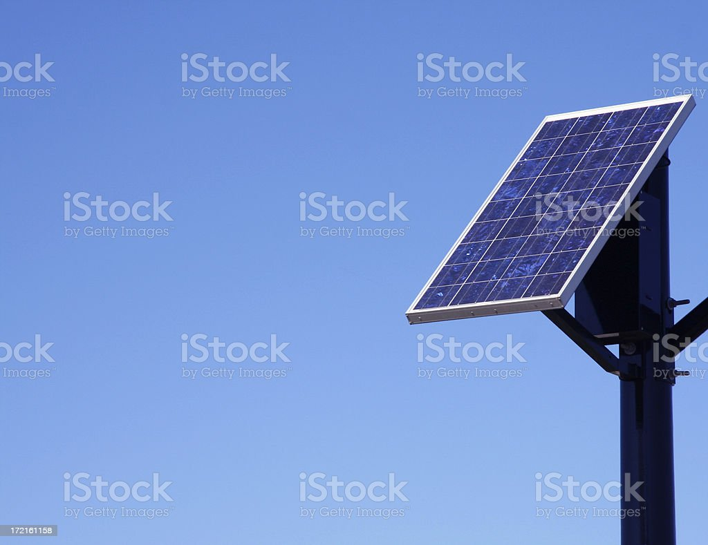 Solar Energy panel with copy space stock photo