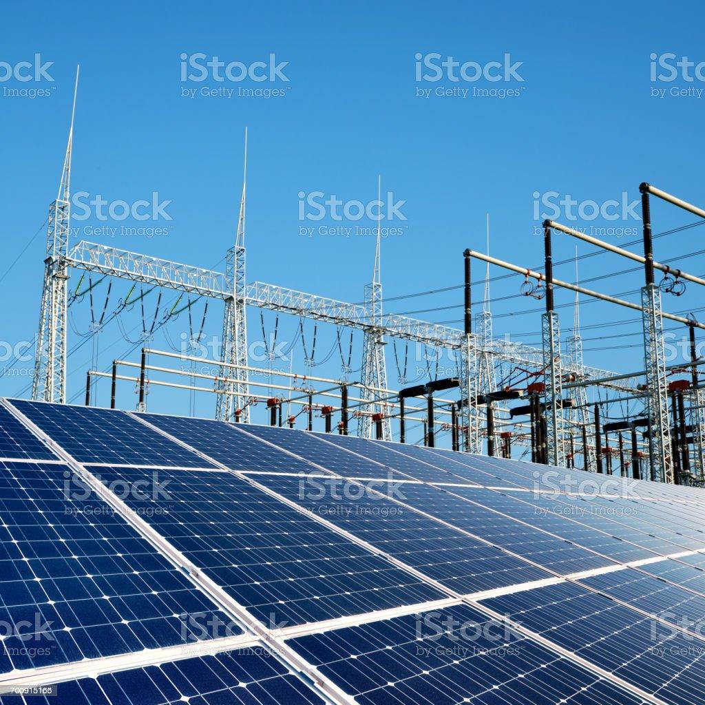 Solar energy panels. stock photo