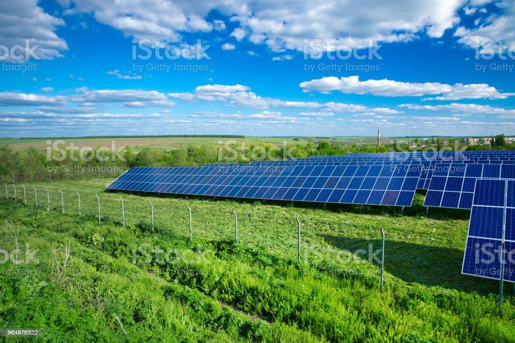 太陽能電池板 - 免版稅保護圖庫照片