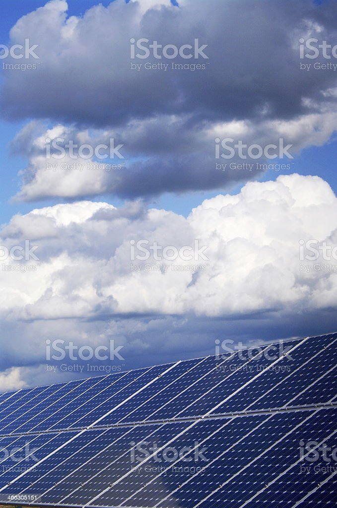 solar energy plant collector sky big stock photo