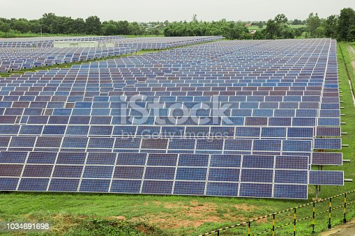 istock Solar energy, Solar cell is a clean and energy for free use 1034691698