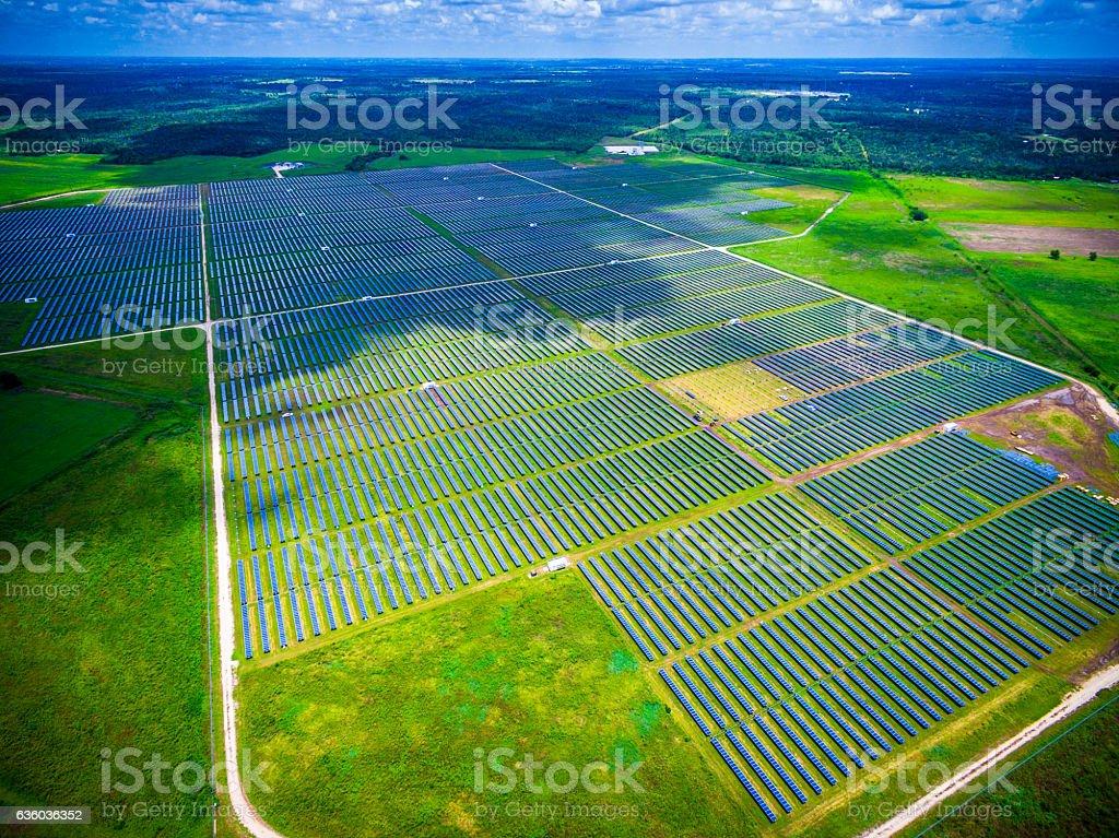 Solar Energy Summer Sunshine Solar Panel Power Plant stock photo