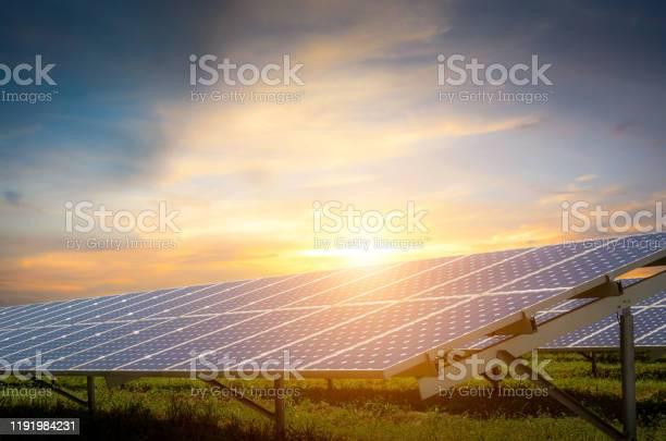 Photo of solar energy with sun