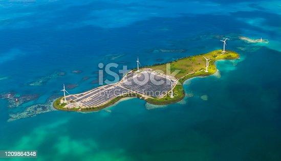 480763537 istock photo Solar farm on Romainville Island at Seychelles. 1209864348