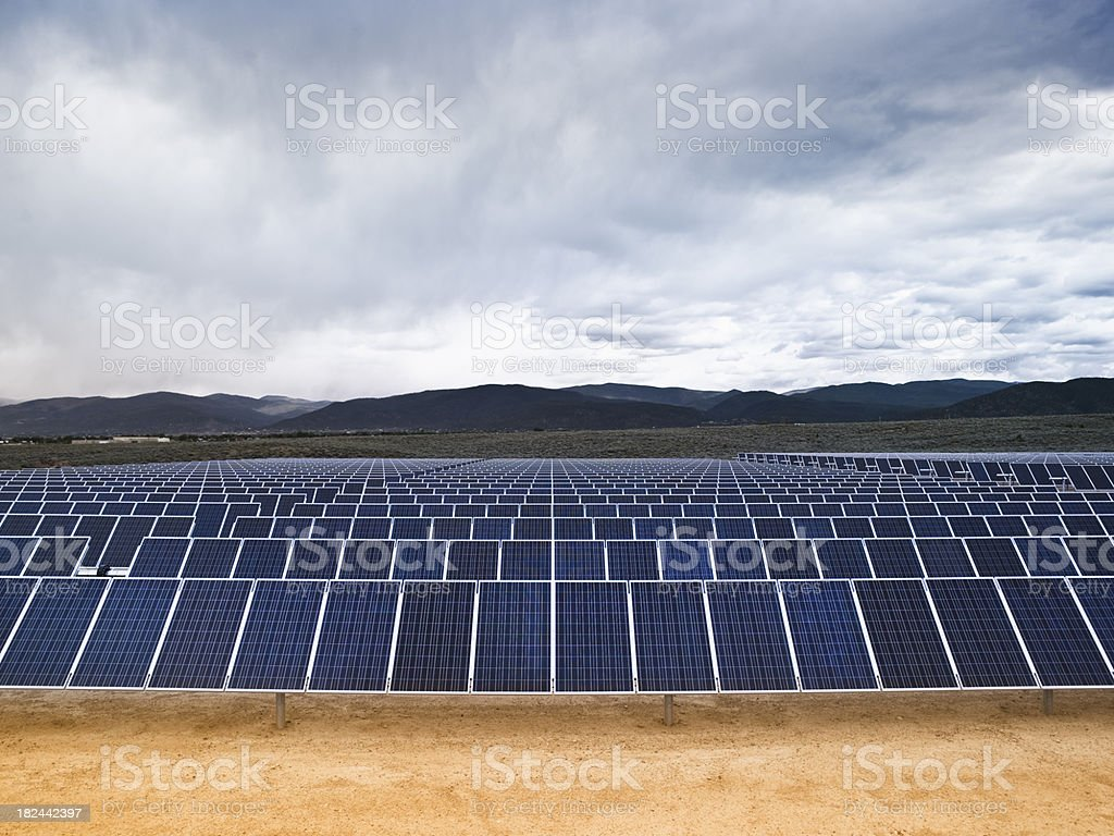 Solar farm panels royalty-free stock photo