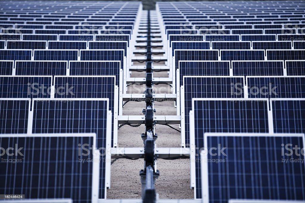 Solar farm panels royalty-free stock photo