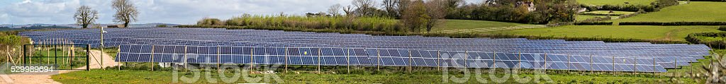 PV solar farm stich stock photo