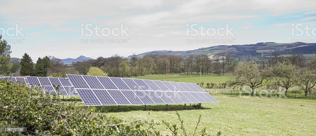 Solar farming stock photo