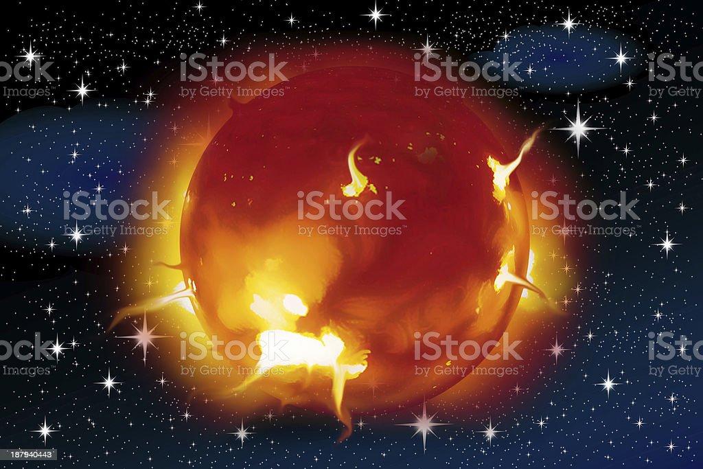 solar flares royalty-free stock photo
