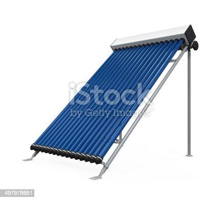 istock Solar Heat Pipe Collector 497978651