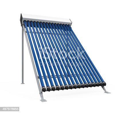 istock Solar Heat Pipe Collector 497978655