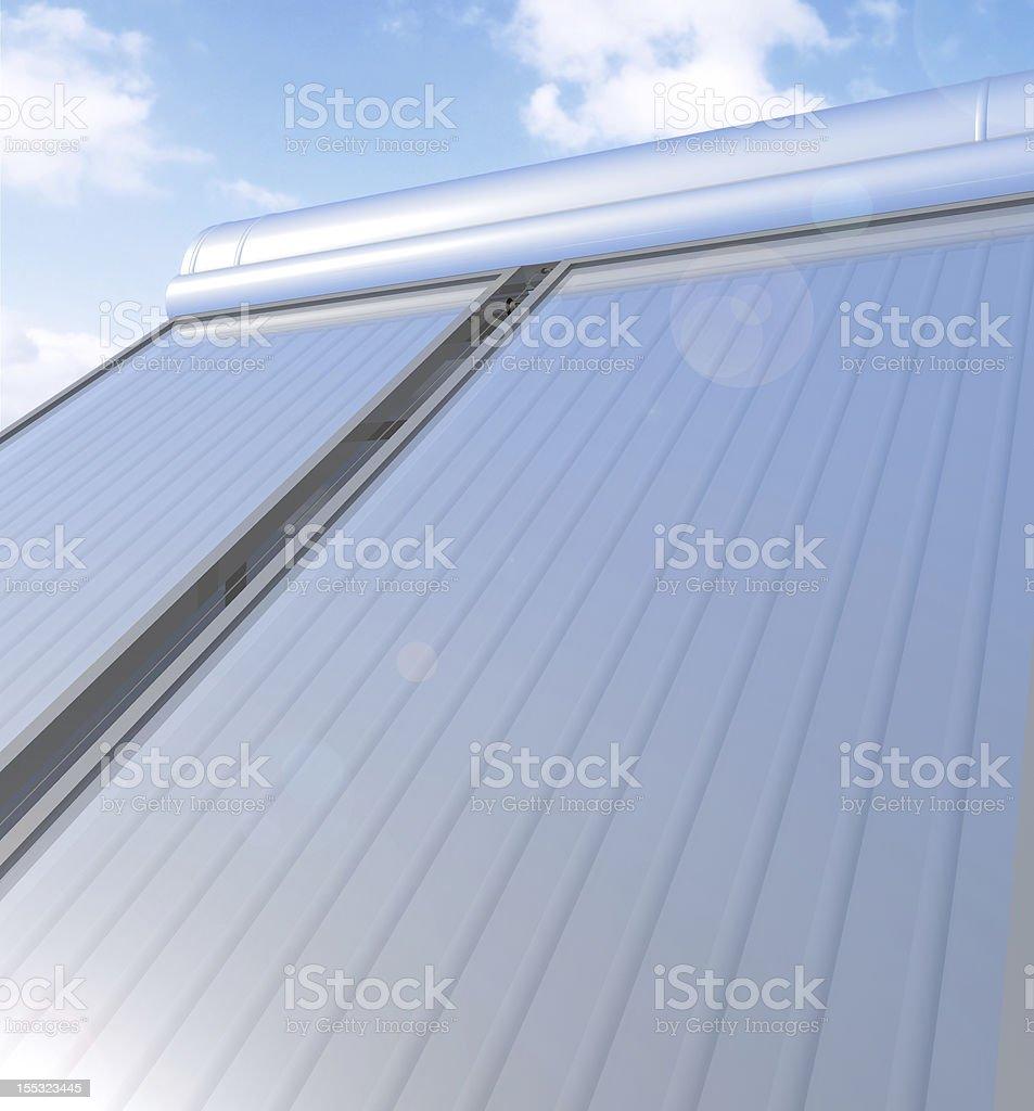 Solar heater system royalty-free stock photo