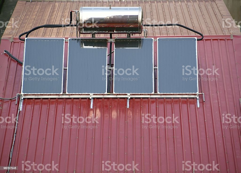 Solar Heater System royalty-free stock photo