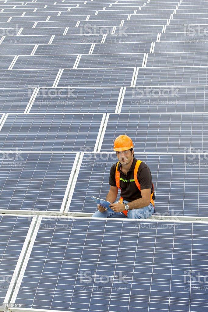 Solar Inspector royalty-free stock photo