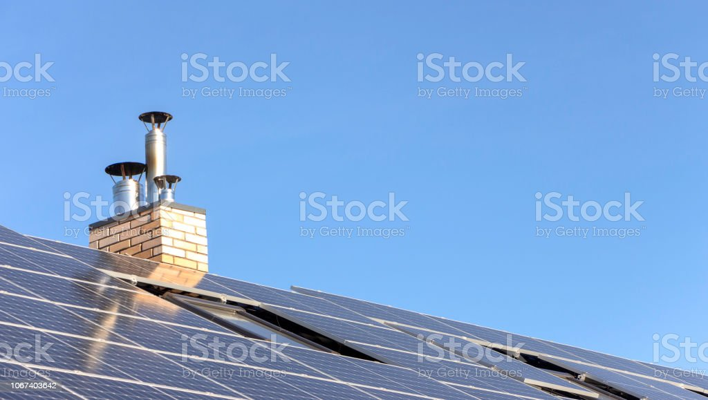Solar installation for generating green electricity on the roof of a...
