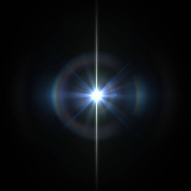 太陽透鏡耀斑光特別作用在黑色背景 - 明亮 個照片及圖片檔