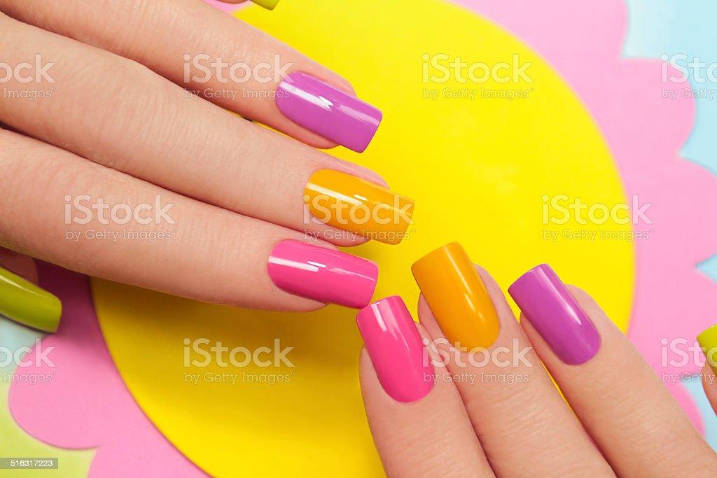 Solar manicure. stock photo