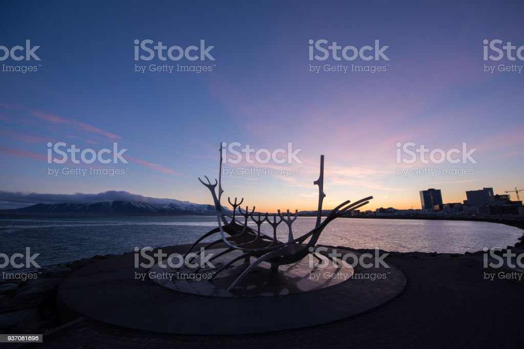 solar of sun voyager before sunrise stock photo