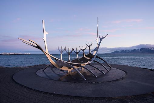 Abstract metallic sculpture