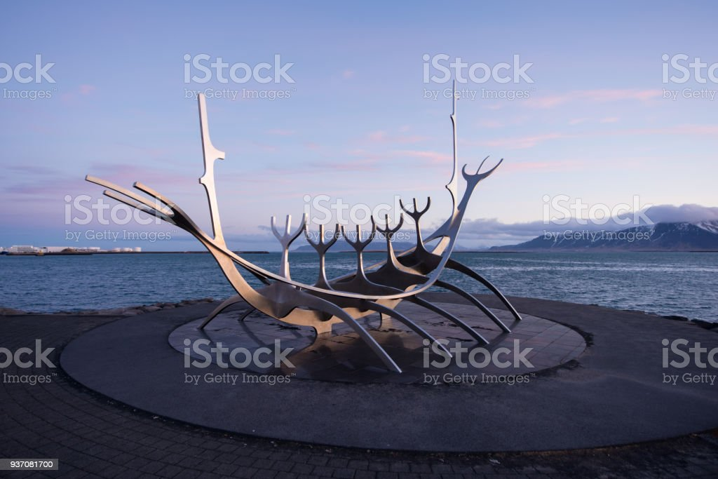 solar of sun voyager with the mountain in background stock photo