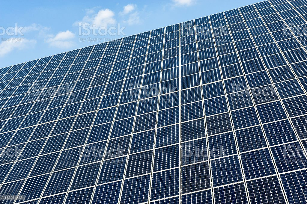 Solar panel against a blue sky royalty-free stock photo