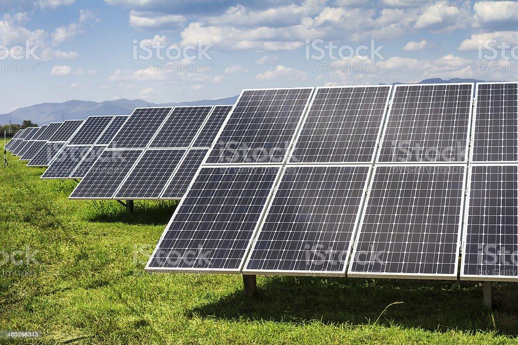 solar-panel und erneuerbare Energien - Lizenzfrei Ausrüstung und Geräte Stock-Foto