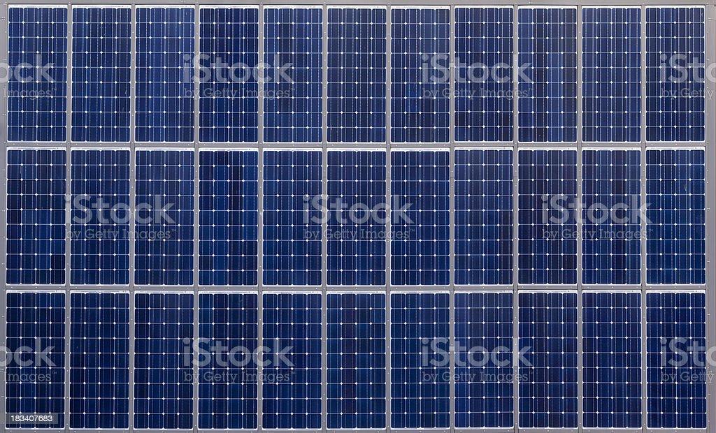 Solar panel array royalty-free stock photo