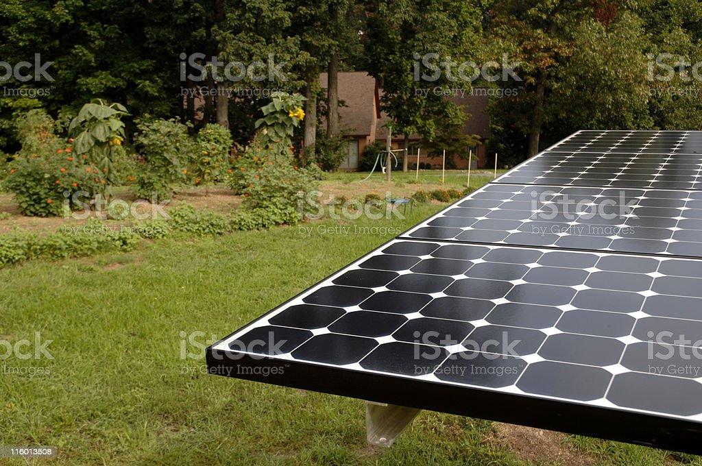 solar panel at home royalty-free stock photo