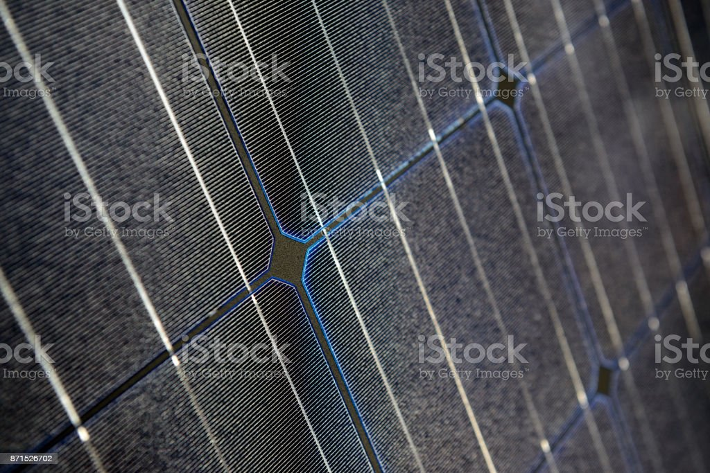 Solar-Panel schließen sich Schärfentiefe. – Foto