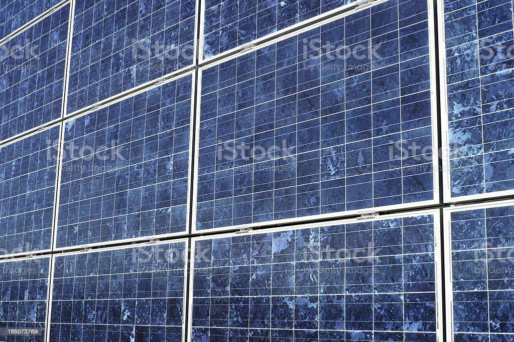 Solar panel close-up from side royalty-free stock photo