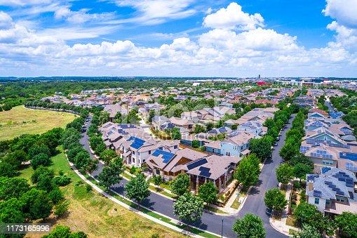 istock Solar Panel Community in Austin Texas 1173165996