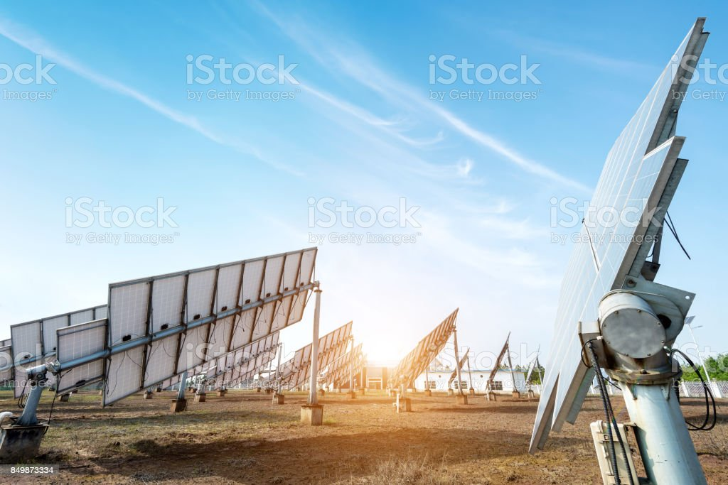 Solar panel features stock photo