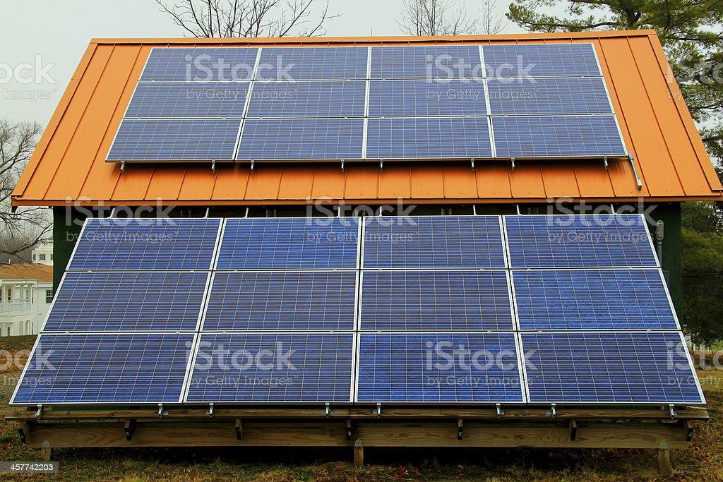 Solar Panel for Alternative Sustainable Energy stock photo