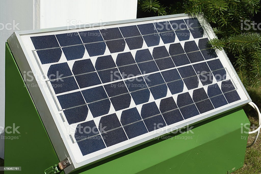 Solar panel for green, environmentally friendly energy royalty-free stock photo