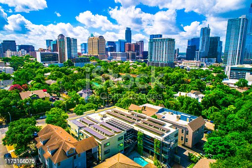 istock Solar Panel future of Austin Texas a renewable energy sustainable city 1173166075