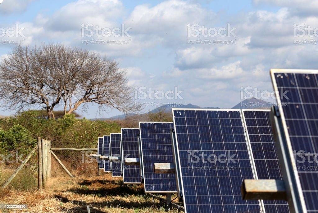 Solar panel in Kenya royalty-free stock photo