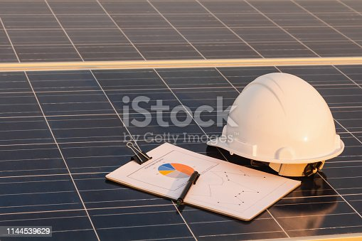 istock Solar panel is alternative electricity source, Is a concept of sustainable resources. Engineer checking chart section power consumption 1144539629