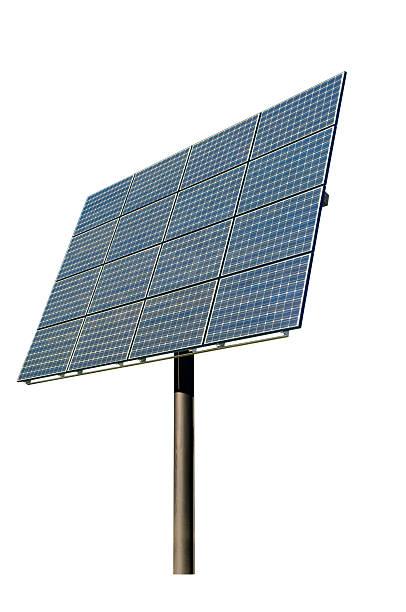 painel solar isolado a branco - solar panel imagens e fotografias de stock