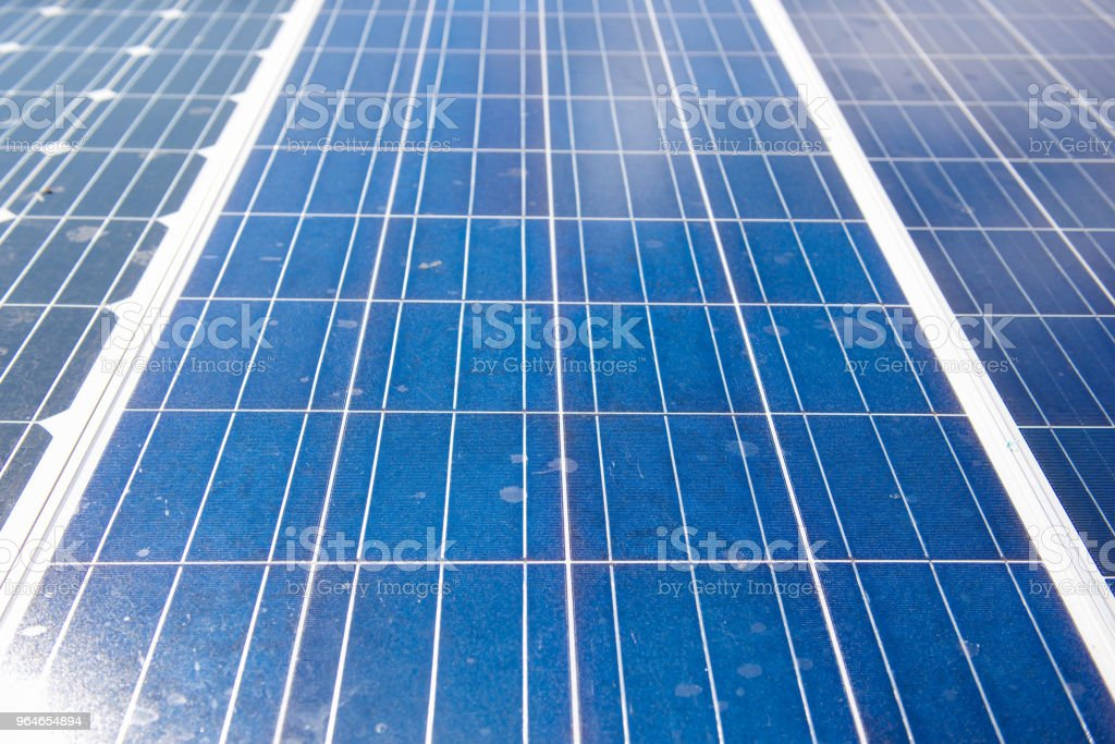 Solar panel on sailing boat royalty-free stock photo