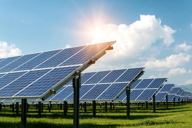 Solarpanel, Photovoltaik, alternative Stromquelle-Konzept der nachhaltigen Ressourcen – Foto