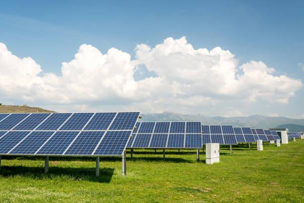 Solarpanel, Photovoltaik, alternative Stromquelle - Konzept nachhaltiger Ressourcen – Foto