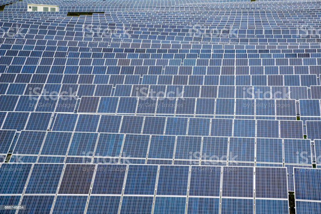 Solar panel, photovoltaic, alternative electricity source foto stock royalty-free