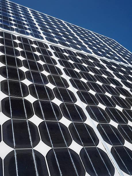 Solar panel photovoltaic cells copy space stock photo