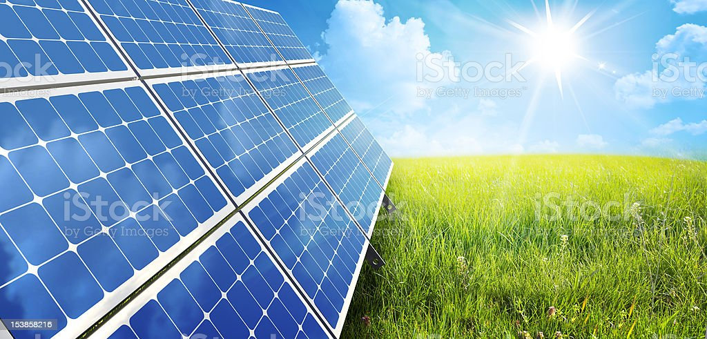solar panel royalty-free stock photo