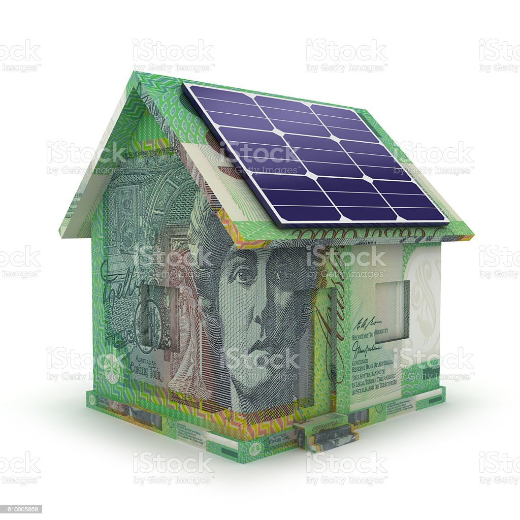 Solar Panel Yearly Savings: Solar Panel Renewable Energy Savings Smart House Concept