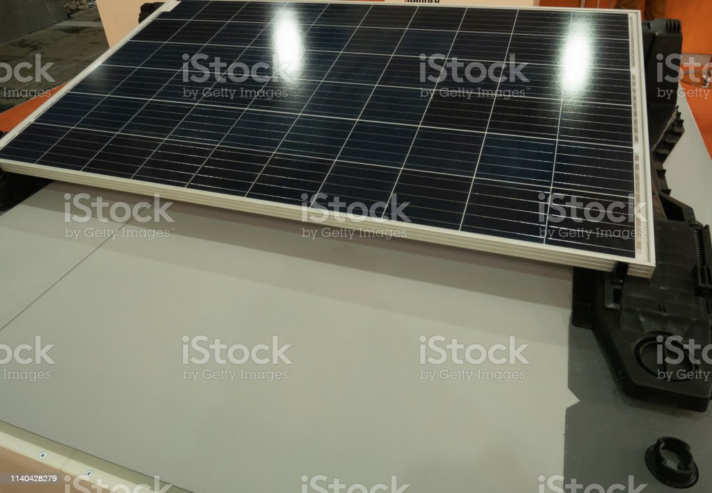 Solar Panel Showcase At Diy Hardware Store Energy Saving Equipment