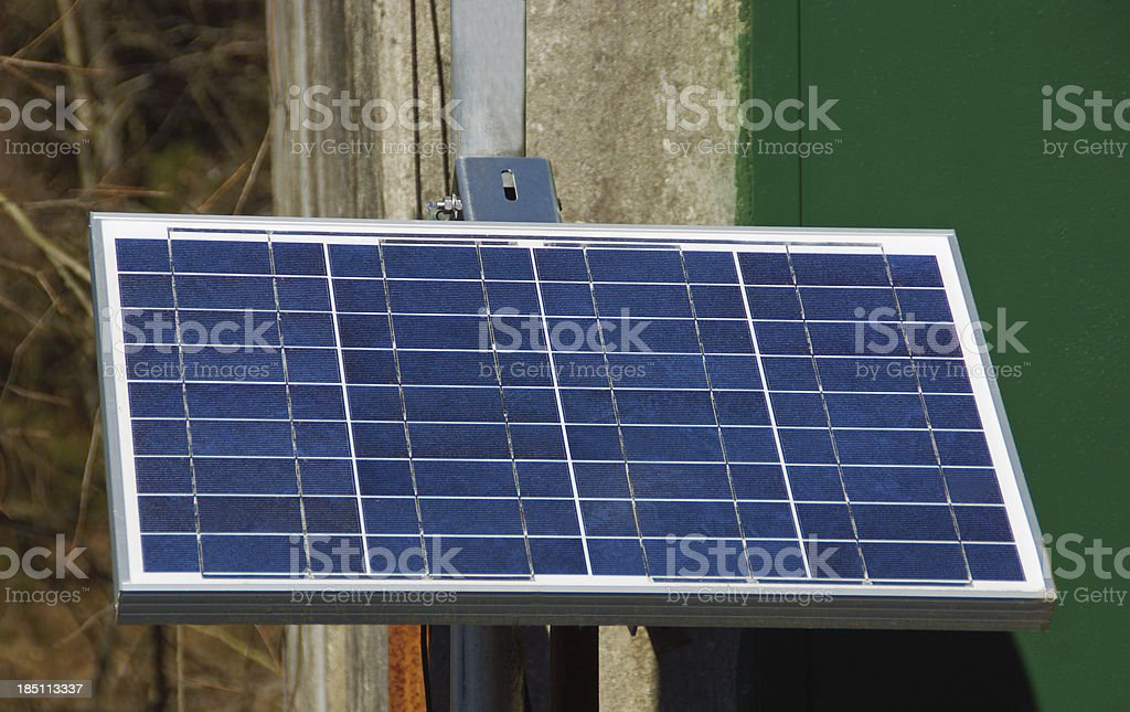 Solar Panel to Generate Electricity royalty-free stock photo