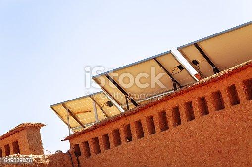 istock solar panel with desert house 649339876